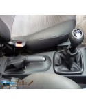 Corsa C black leather gear shift and hand brake gaiter with black stitching