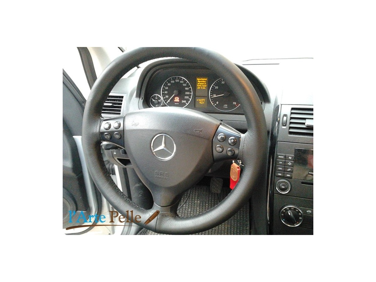 Italian Leather Steering Wheel Cover fit MERCEDES
