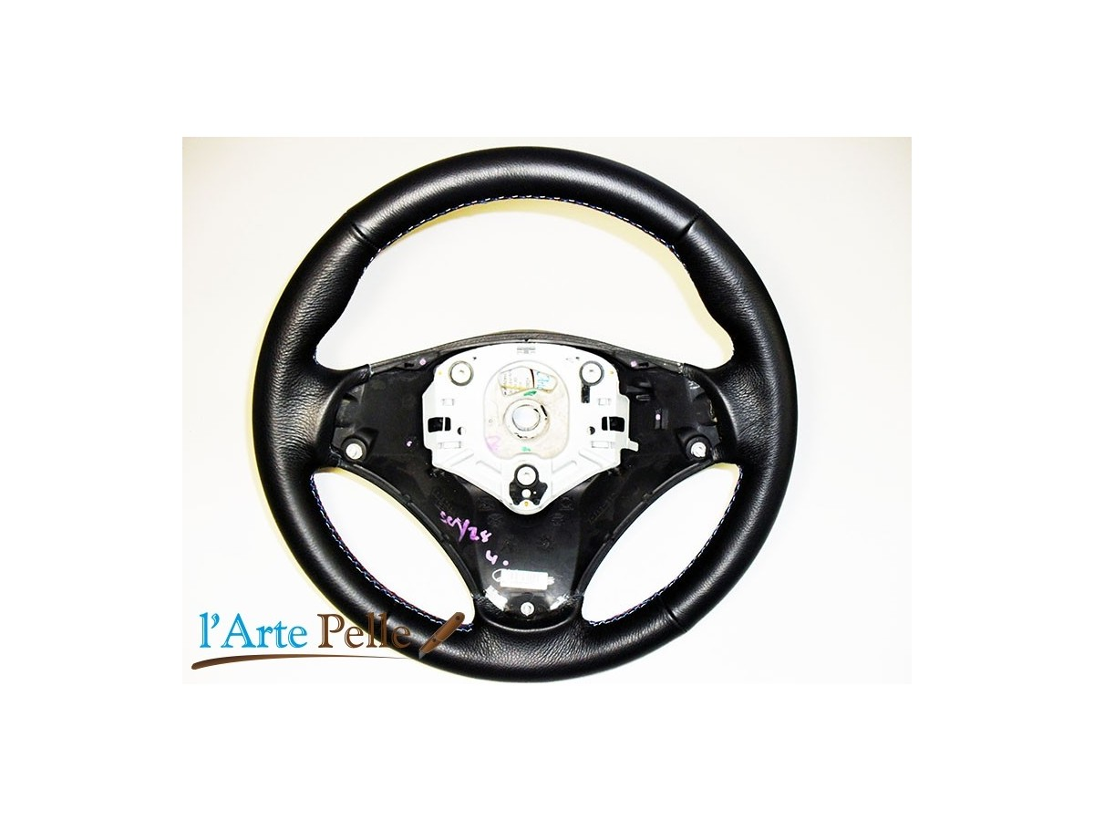 Bmw E90 E91 Real Black Leather Steering Wheel Cover With M Sport