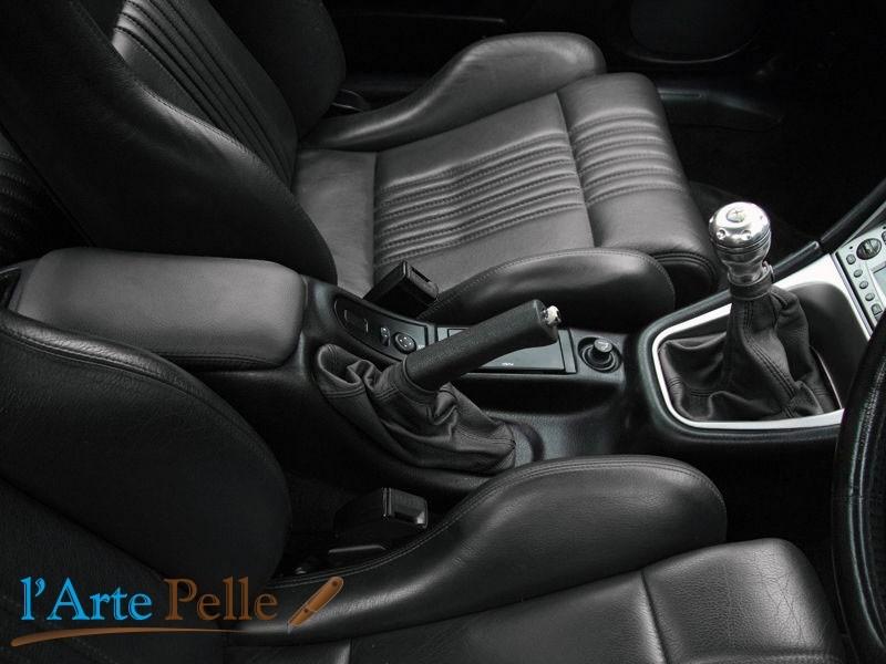 ALFA ROMEO GTV SPIDER 916 1995-1998 CUFFIA DEL CAMBIO FRENO A MANO PELLE NERA