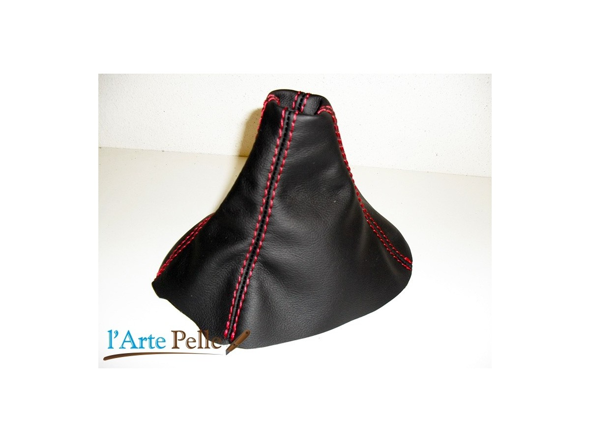 Gear /& Handbrake Gaiter For Ford C-MAX With Plastic Frame Leather Red Stitching