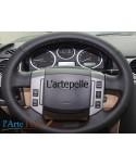 Freelander 2 real black leather steering wheel cover