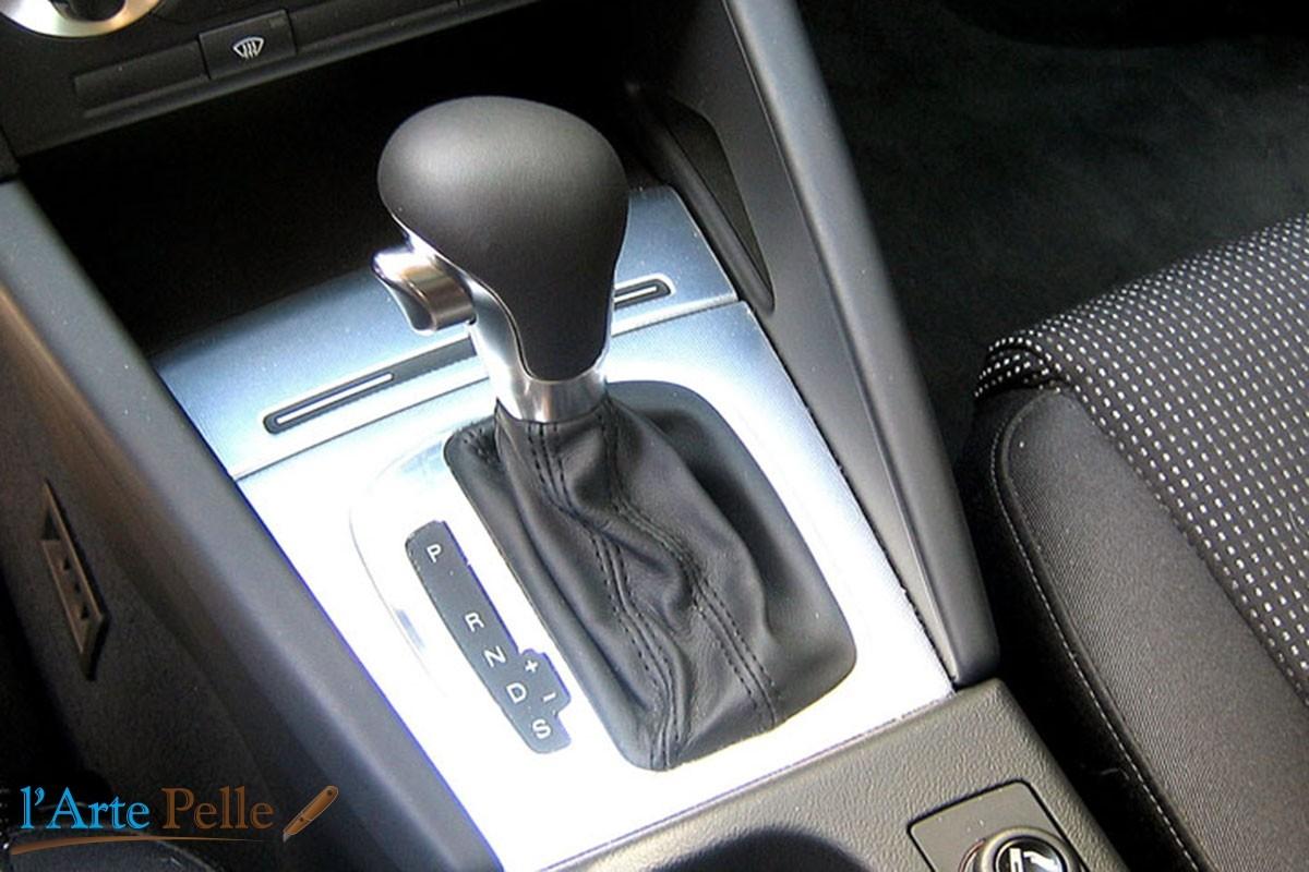 AUDI A3 DSG cuffia cambio vera pelle nera