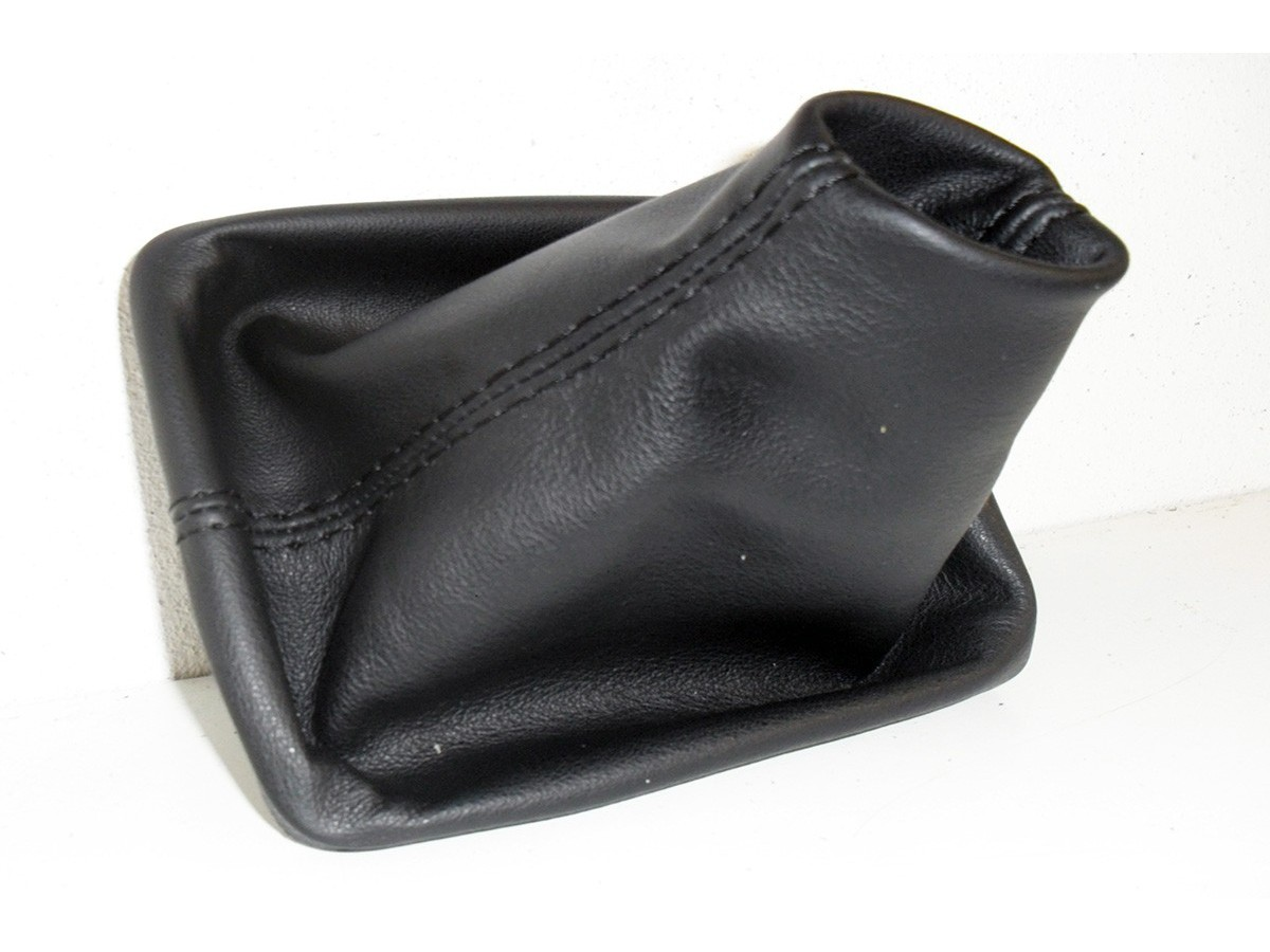 headset gear lever VW Passat B7 genuine leather and Black stitching