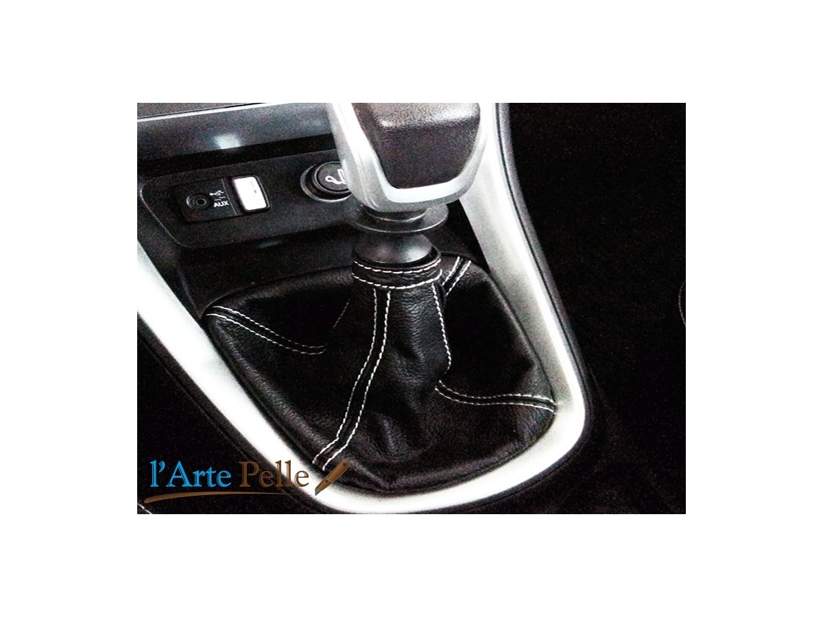 copy of black leather gearshift gaiter new lancia delta
